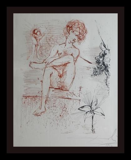 Salvador DALI - Grabado - The Mythology Narcissus