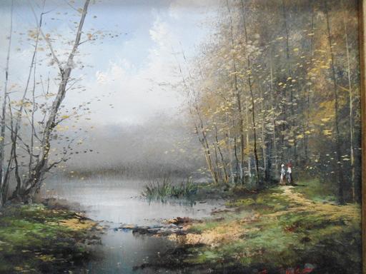 Serge CUCCA - Peinture - Le sous bois.