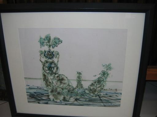 Lucien COUTAUD - Disegno Acquarello - La plage du cheval de brique