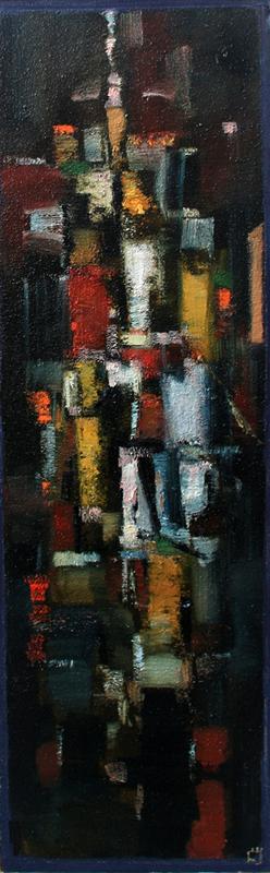 Levan URUSHADZE - Painting - The city that never sleeps # 1