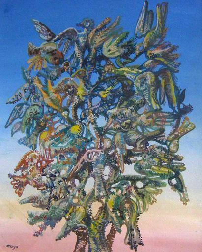 Antoine MAYO - Painting - Oiseaux
