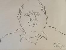 Otto MÜHL - Drawing-Watercolor - Herrenportrait