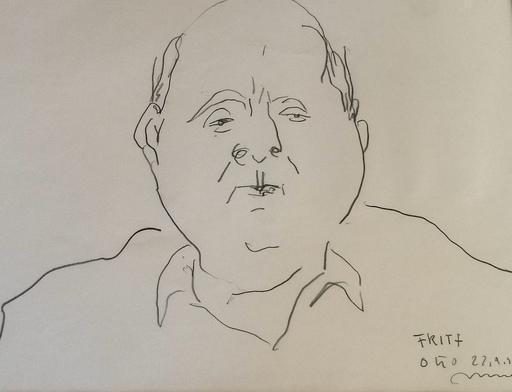 Otto MÜHL - Dibujo Acuarela - Herrenportrait