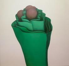 RU Xiaofan - Painting - Fleur verte