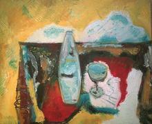 Bernard MOREL - Pittura - LA BOUTEILLE