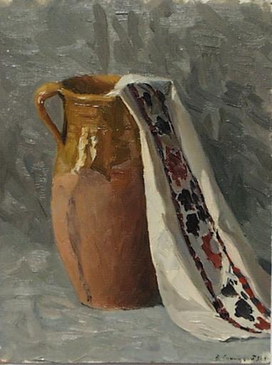 """Vladimir M. SINITSKI - Painting - """"Ukrainian Still Life"""", Oil Painting by Vladimir Sinitski"""