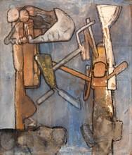 罗贝托•马塔 - 绘画 - Monumental Roberto Matta Painting
