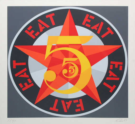 Robert INDIANA - Grabado - Eat (from The American dream No. 5)
