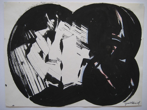 Pierre GASTAUD - Drawing-Watercolor - DESSIN ENCRE ET GOUACHE SIGNÉ HANDSIGNED INK GOUACHE DRAWING