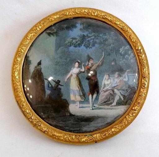 Alexandre Jean NOEL - 绘画 - La danse de la tarentelle