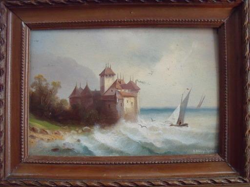 Hubert SATTLER - Peinture - Le château de Chillon