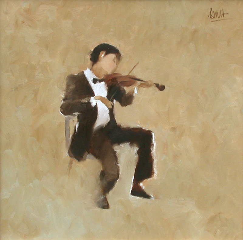 Thanh Binh NGUYEN - Painting - The Violinist