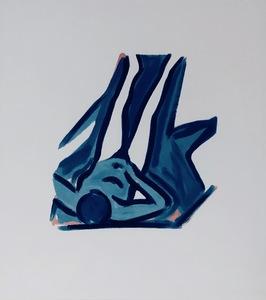 Tom WESSELMANN - Grabado - Blue Nude #2