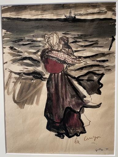 Renato GUTTUSO - Zeichnung Aquarell - La terra trema