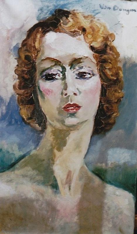 Kees VAN DONGEN - Painting - Portrait de Madame Gigandet