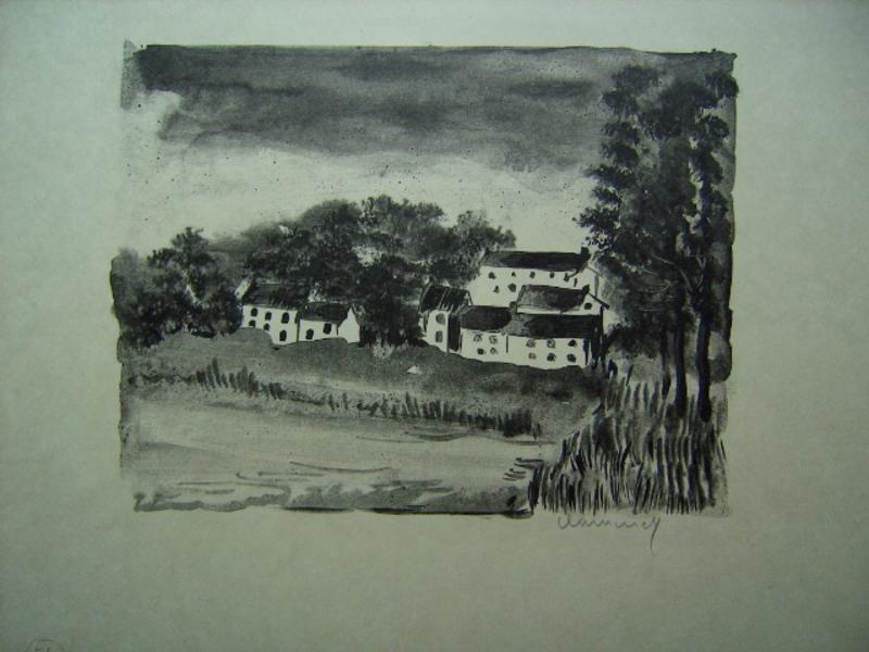 Maurice DE VLAMINCK - Stampa Multiplo - La Naze, le Village