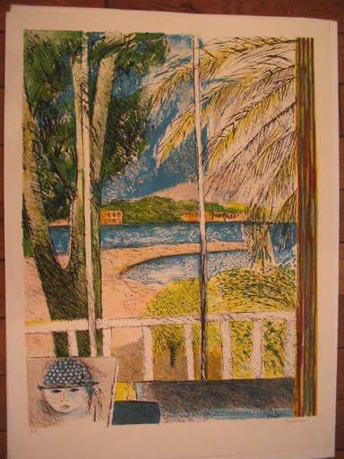 Guy BARDONE - Grabado - Le balcon blanc,1983