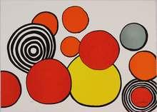 Alexander CALDER - Estampe-Multiple - Composition aux cercles