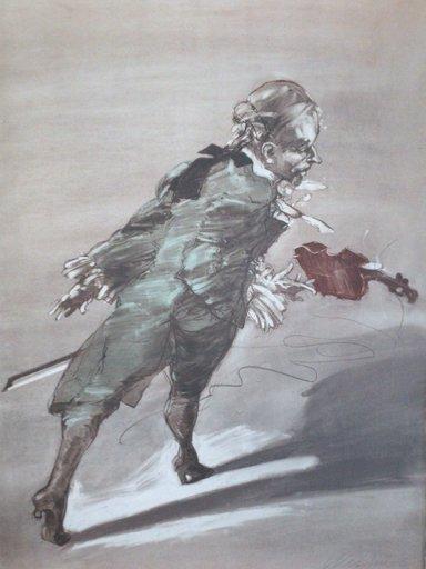 Claude WEISBUCH - Grabado - Depart pour le concert