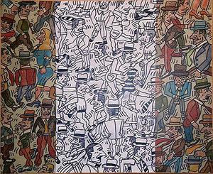 Antonio SEGUI - Painting - Bandera