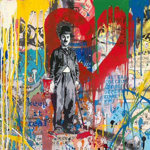 MR BRAINWASH - Painting - Chaplin