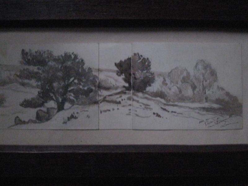 Maximilien LUCE - Drawing-Watercolor - ERMENONVILLE