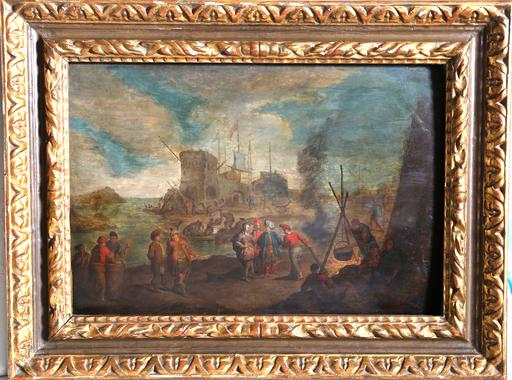 Gerard Joseph XAVERY - Pittura - Traders on the Dock