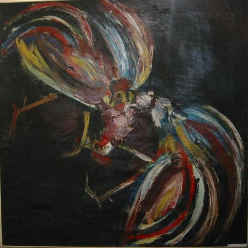 Renato BERTOLONI - Peinture - Combattimento di galli, 1953