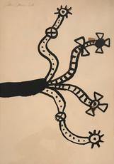 Alan DAVIE - Pintura - Untitled, 1964