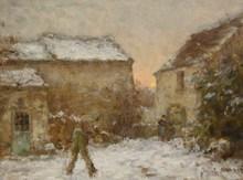 Jean Eugène Julien MASSÉ - Peinture - Neige à Luzancy