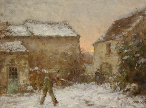 Jean Eugène Julien MASSÉ - Pintura - Neige à Luzancy
