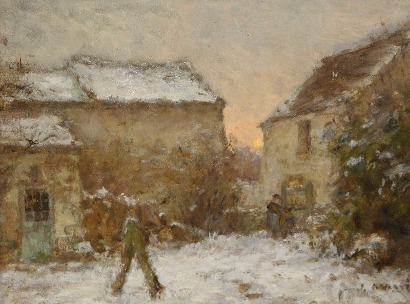Jean Eugène Julien MASSÉ - Painting - Neige à Luzancy