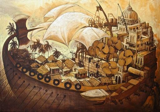 Victor HUERTA BATISTA - Pintura - Islas II