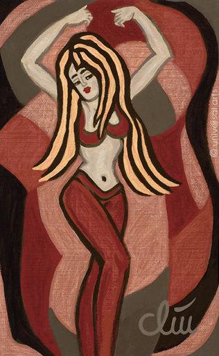 Jacqueline DITT - Painting - Oriental Bellydance (Oientalischer Bachtanz)