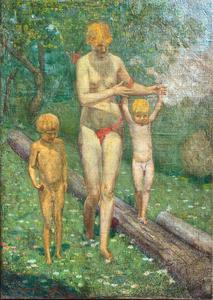 Giovanni Battista TEDESCHI - Pintura - In giardino