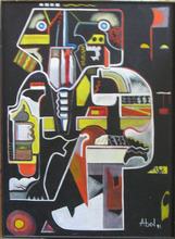 Abol ATIGHETCHI - Gemälde - WALL STREET