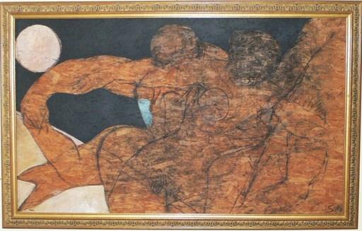 "Christian BERNARD - Painting - ""Clair de lune"""