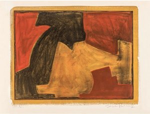 Serge POLIAKOFF - Estampe-Multiple - Composition verte, bleue et rouge n°48