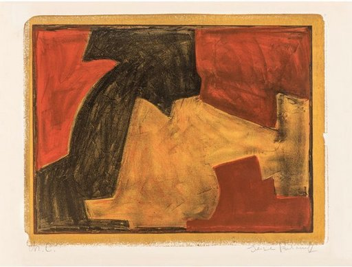 Serge POLIAKOFF - Print-Multiple - Composition verte, bleue et rouge n°48