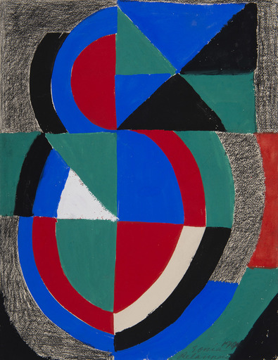 Sonia DELAUNAY - Drawing-Watercolor - Rythme-couleur