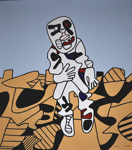 Jean DUBUFFET - Print-Multiple - The Walk in the Countryside | Marche en Campagne