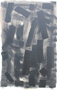 François GARROS - Pittura - Grande fragmentation noire