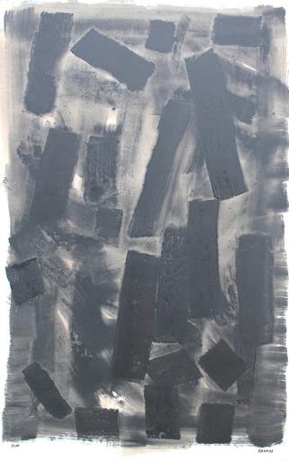 François GARROS - Painting - Grande fragmentation noire