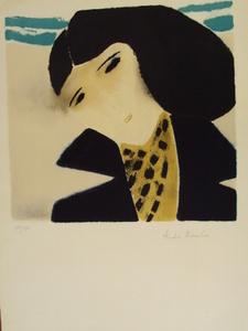 """André BRASILIER - Print-Multiple - """"Les Yeux noirs,Ciel bleu""""1969"""