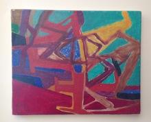 Maurice ESTEVE - Peinture - L'arbre Rouge