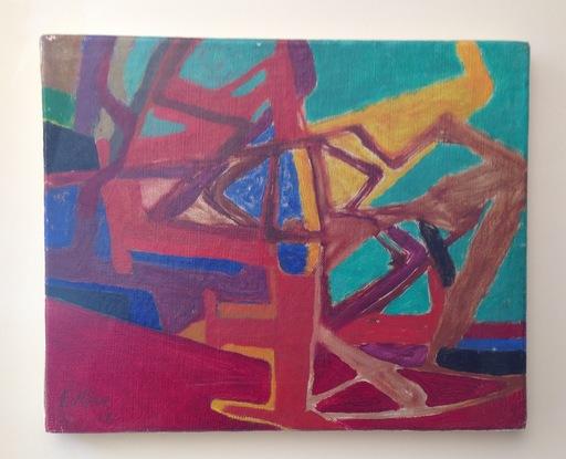 Maurice ESTEVE - Pintura - L'arbre Rouge