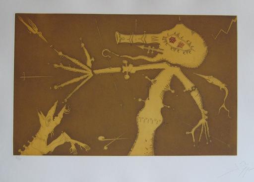 Joan PONÇ - 版画 - GRAVURE 1975 SIGNÉE AU CRAYON NUM/75 HANDSIGNED NUMB ETCHING