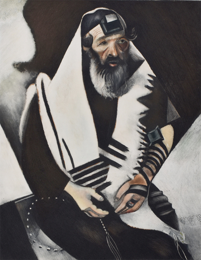 Marc CHAGALL - Grabado - The Rabbi of Vitebsk (The Praying Jew)