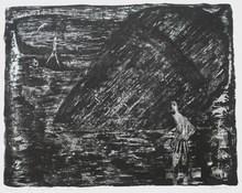 """Auguste Jean GAUDIN - Grabado - """"La mort du vieux bassin"""""""