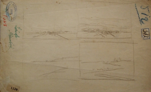 László Báró MEDNYANSZKY - Drawing-Watercolor - Four Horisontal Landscapes
